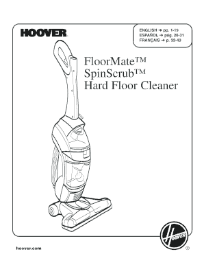 Fillable Online FloorMate SpinScrub Hard Floor Cleaner
