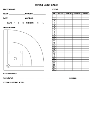 Baseball Scouting Report Template Image collections