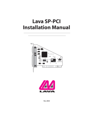 Fillable Online Lava SP-PCI Installation Manual