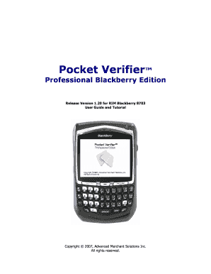 Fillable Online Professional Blackberry Edition