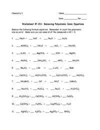 Ionic Equations Worksheet - Fill Online, Printable ...