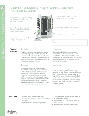 fillable online lilm series lighting integrator panel interiors wattstopper fax email print pdffiller