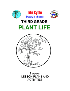 Fillable Online THIRD GRADE PLANT LIFE 2 weeks LESSON
