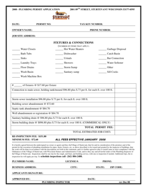 Fillable Online sturtevant-wi 2801 89TH STREET, STURTEVANT