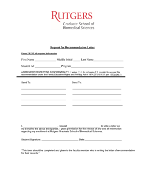 13 Printable recommendation letter for student going to
