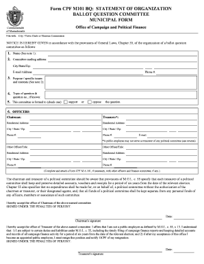 Fillable Online Form CPF M101 BQ: STATEMENT OF