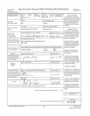 Submit public financial disclosure report sf 278 Samples