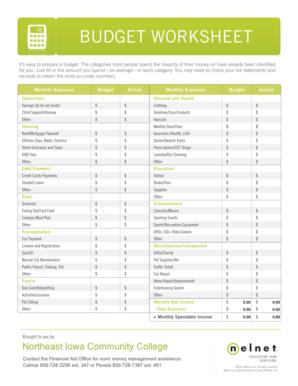 19 Printable Personal Budget Weekly Expenses Worksheet
