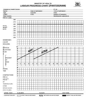 Fillable Online LABOUR PROGRESS CHART (PARTOGRAM) Fax