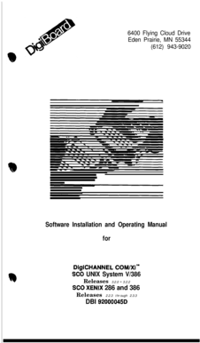 Fillable Online Software Installation and Operating Manual