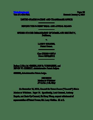 Fillable Online gov Tel: 5712727822 Paper 20 Entered
