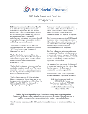 Fillable Online rsfsocialfinance RSF Social Investment
