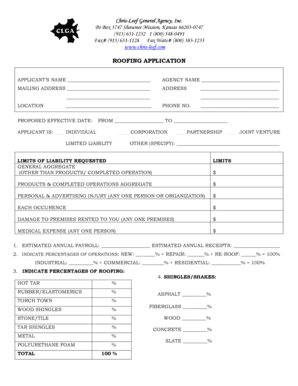 Fillable Online Chris-Leef General Agency Inc Fax Email