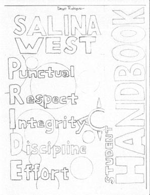 Fillable Online SALINA WEST ALTERNATIVE PROGRAM