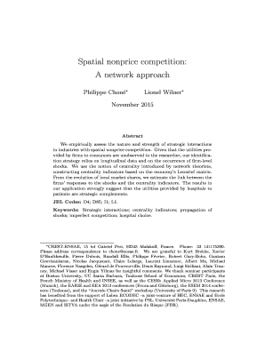 Fillable Online Spatial nonprice competition A network
