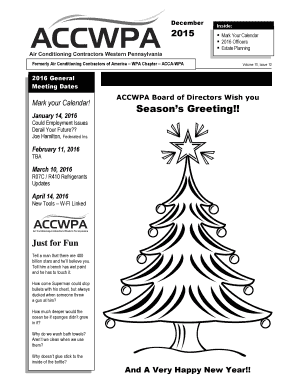 Fillable Online accwpa ACCWPA Board of Directors Wish you