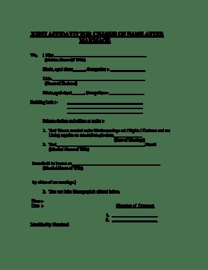 Fillable Online JOINT AFFIDAVIT FOR CHANGE OF NAME AFTER
