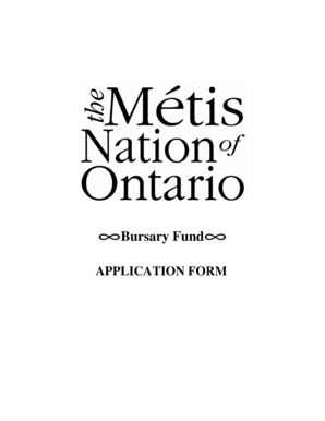 Fillable Online Mtis Nation of Ontario Scholarship Fund