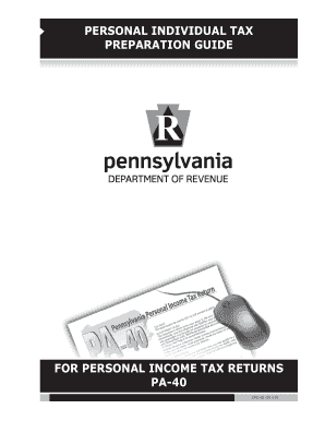 Fillable Online PERSONAL INDIVIDUAL TAX PREPARATION GUIDE