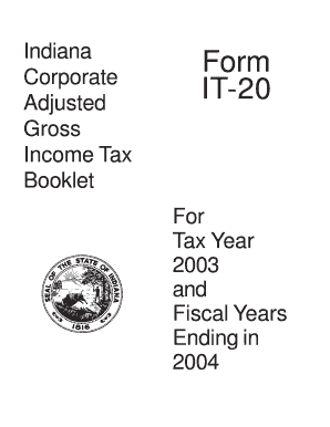 Fillable Online State of Indiana Form IT-20 Corporate