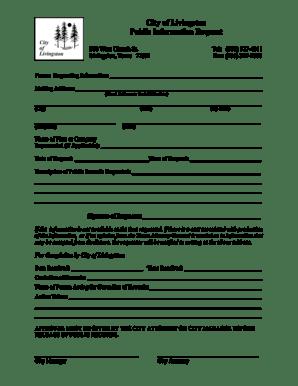 Fillable Online City of Livingston Public Information