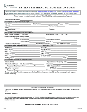 Humana Medicaid Family Referral Form  Fill Online