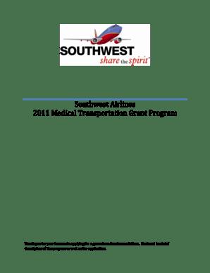Fillable Online Southwest Airlines 2011 Medical