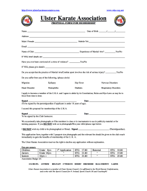 Fillable Online PROPOSAL FORM FOR MEMBERSHIP Fax Email