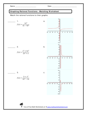 Fillable Online Graphing Rational Functions Matching