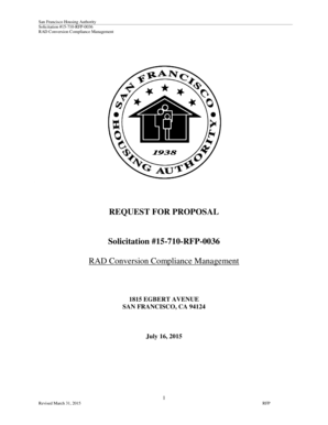 Fillable Online 15-710-RFP-0036 RAD Conversion Compliance