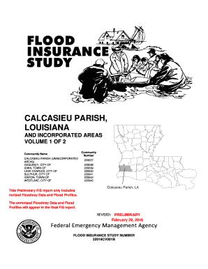 Fillable Online Calcasieu Parish FIS Text Cover2doc Fax