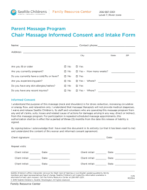 chair massage seattle sling stacking consent form fillable printable templates to