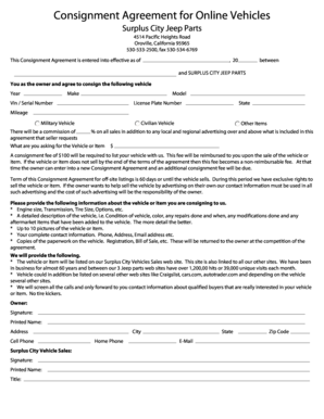 119 Printable Consignment Agreement Template Forms  Fillable Samples in PDF Word to Download