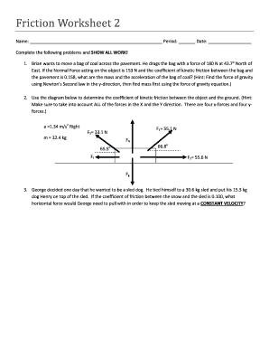 Fillable Online Hopewell K12 Pa Friction Worksheet 2