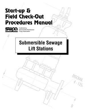 Fillable Online swpa 2001 Submersible Wastewater Pump