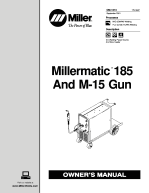 Fillable Online Millermatic 185 And M-15 Gun Fax Email