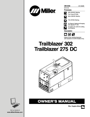 Fillable Online Trailblazer 302 Trailblazer 275 DC