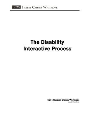 Fillable Online 2013 Disability Interactive Process