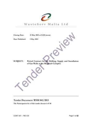 Fillable Online Period Contract for the Drilling, Supply