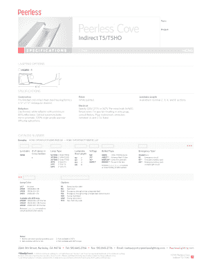 Fillable Online HCM5 Peerless Cove Indirect T5T5HO Spec