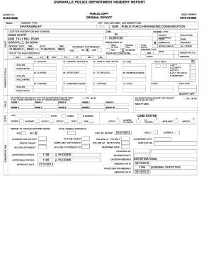 16 Printable police report seattle Forms and Templates