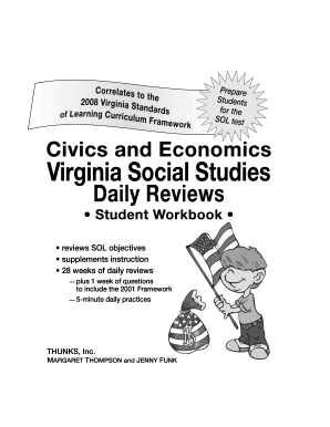 Fillable Online VA Econ Student Workbook 2008 Cover Fax