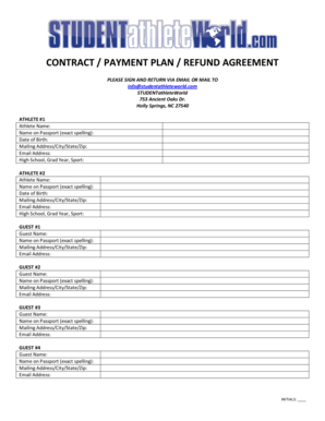 Payment Plan Contract Forms and Templates - Fillable & Printable ...