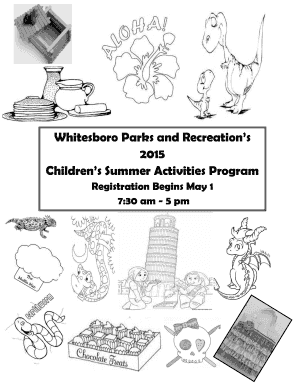 Fillable Online Whitesboro Parks and Recreations Fax Email