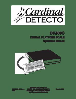 Fillable Online DIGITAL PLATFORM SCALE Operation Manual