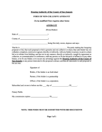 Non Collusion Affidavit Forms and Templates - Fillable ...