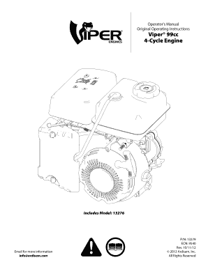 Fillable Online Operator's Manual Original Operating Instructions Viper 99cc 4-Cycle Engine GAS
