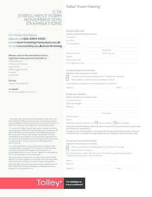 Fillable Online 0614-032 cta enrolment form november 2015