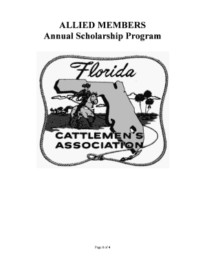 Fillable Online ALLIED MEMBERS Annual Scholarship Program