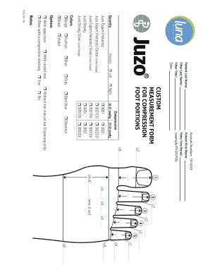Fillable Online Custom Measurement Form For Compression
